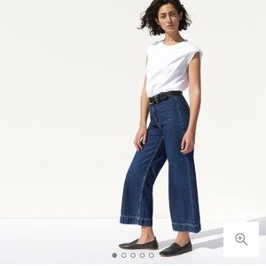 NWT everlane edition 02 wide leg crop jean